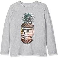 Quiksilver LS Classic tee YTH Hot Pineapp Camiseta de Manga Larga, niños, Gris (Highrise Heather), L/14