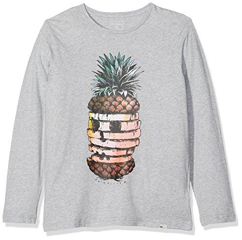 Grau Classic Long Sleeve T-shirt (Quiksilver Jungen YTH PINEAPP Classic Hot Pineapple Long Sleeve T-Shirt, grau (highrise), L/14)