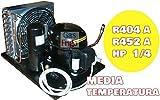 GRUPPO FRIGO COMPLETO COMPR ASPERA MOD AUMT6152GK-02 - 1/4 HP - R404A - HBP - Valvola