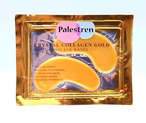 palestren Collagen Eye Masken–10x Paar Kristall Gold Anti-Falten Anti-Aging unter Eye Gel Patch Puder Maske Facial Moisturizer (Auge Unter Anti-falten)