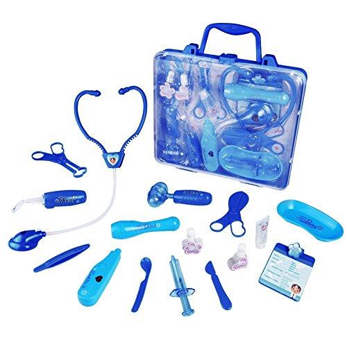 Juegos de Médicos para Niños Maletín Médico Juguete de Doctora Para Infantiles 3 Años + (azul)