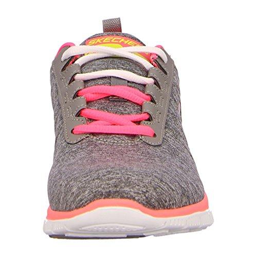 Skechers  Flex AppealSweet Spot, basket femme Grau (gray/coral)