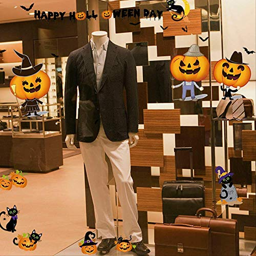 oween Pumpkin Window Door And Window Haunted House Bar Decorated With Self-Adhesive Wall Stickers Sk6074 ()