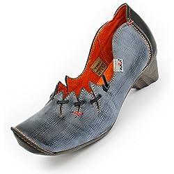 Leder Schuhe von TMA, Anthrazit Size 36