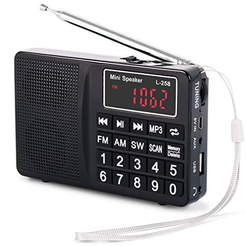 Radio PRUNUS Portable SW/FM/AM(MW)/ SD/TF/USB(0-64 GB)...