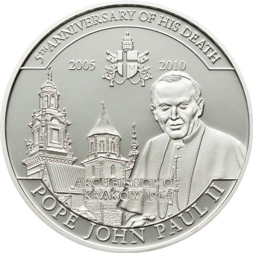 MCI-MINT Papst Johannes Paul II. - Erzbischof, 2010, Kupfer Versilbert -