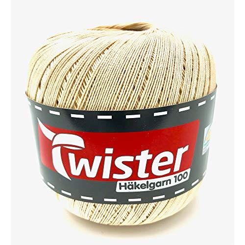 Crochet Yarn Twister - Beige - 100 g
