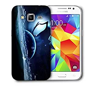 Snoogg Abstract Neon Earth Printed Protective Phone Back Case Cover for Samsung Galaxy CORE Prime