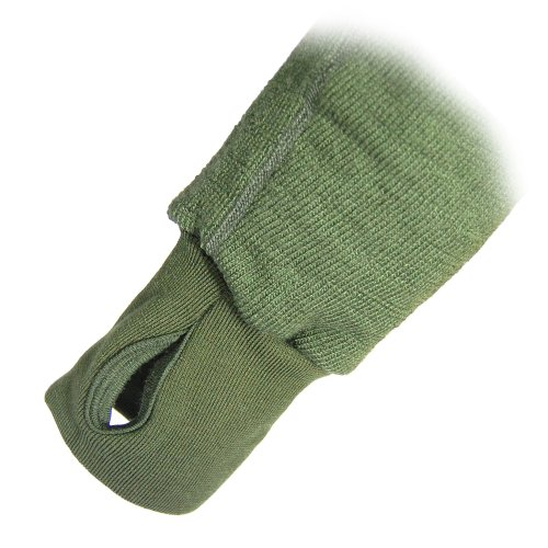 WoolPower - Maglia unisex con cerniera su tutta la lunghezza 600 Green