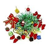 Recoproqfje Weihnachtsbaum Glitter Ornamente mit Santa Star Ball Bowknot hängenden Dekor 23Pcs / Set - zufällige Farbe