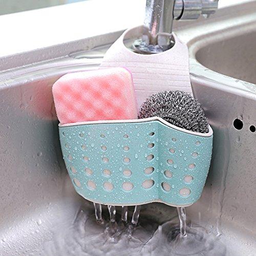Cestino appeso per ripostiglio per lavabi - accessori per la cucina da bagno con doccetta estraibile a doppio strato e porta sapone