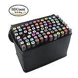 80 Farbige Graffiti Stift Fettige Mark Farben Marker Set,Twin Tip Textmarker Graffiti Pens für Kunstler Sketch Marker Stifte Mit (schwarze)