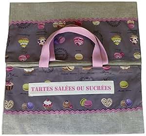 La Boîte à Broder SAC006 Kit de Couture Sac à Tarte Prune 35 x 35 cm