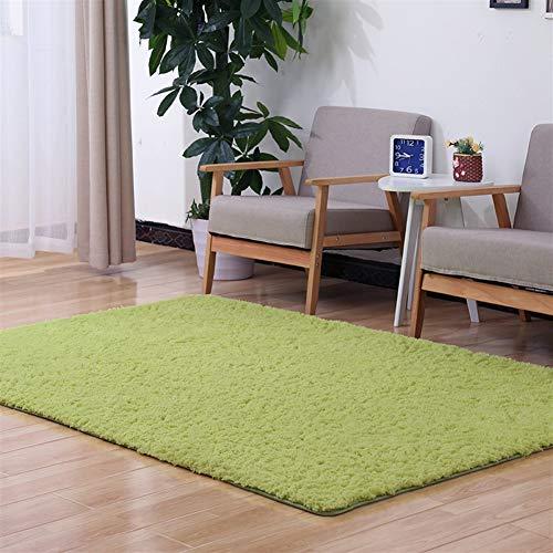 Creme Grüne Rechteck Teppich (Liveinu Hochflor Shaggy Teppich für Wohnzimmer Langflor Pflegeleicht Rechteck Teppich Hochwertig Hohe Fadendichte Wasser Absorbierend Badezimmerteppich Für Wohnzimmer Grün 180x200cm)