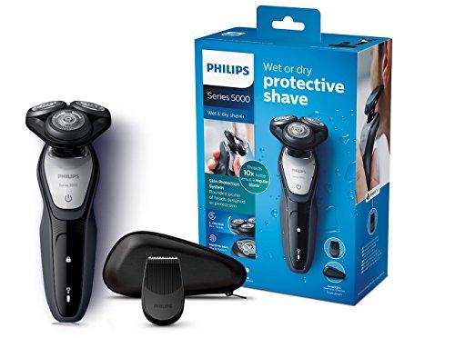 Philips S5290/12 Elektrischer Nass-und Trockenrasierer Series 5000 mit MultiPrecision-Klingen, Präzisionstrimmer