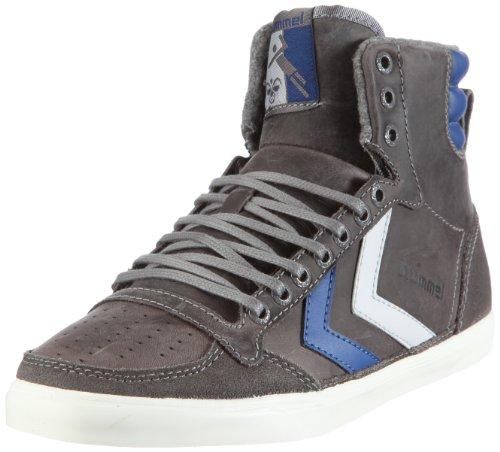 hummel Unisex-Erwachsene Ten Star Oiled HIGH Sneaker, Grau/Gargoyle/Limoges Blue/Castle Rock, 45 EU - Gargoyle Castle