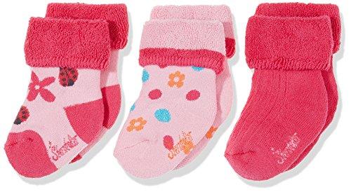 Sterntaler Baby - Mädchen Socken Baby - Söckchen 3er - Pack Blumen 8301724, Gr. 16, Rosa (Mandelblüte 715) (Pack Mädchen-socken)