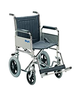 Patterson Medical Transit Wheelchair Narrow with Detachable Arm and Foot Rests and Folding Back (Eligible for VAT relief in the UK)