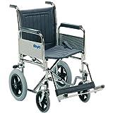 Patterson Medical - Silla de ruedas de tránsito (plegable, con reposabrazos y reposapiés extraíbles)
