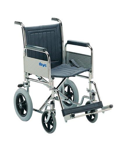 Patterson Medical Transit Rollstuhl mit abnehmbaren Arm- und Fußstützen, schmal, abklappbare Rückenlehne -