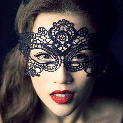 ancing Party Eye Mask Ball Lace Girls Catwoman Masquerade Cat Halloween Fancy Dress - Navy Women Full Ears Multicolor Black Facial Purple Cuffs Flower Elastic Masks Girls ()