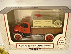 ERTL 1926 Mack Bulldog Truck Bank With Crates