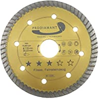 baldosas de diamante (115 mm piedra natural Turbo – 115 x 1,6 x 22,23 mm