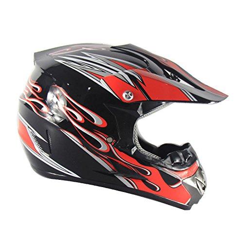 AEMAX, Motorradhelm, Straßen-, Renn-, Offroad-Helm, Full-Face-Helm, Ausdauer-Quadrat-Helm, Sonnenblende, S-XL,D-L(56-57CM)