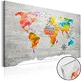 Novedad! Moderno Cuadro de cristal acrílico 60x40 cm - 2 tamaños opcionales - Cuadro de acrílico – TOP – Cuadro - Impresion en calidad fotografica Mapamundi Mundi Mapa k-C-0049-k-b 60x40 cm