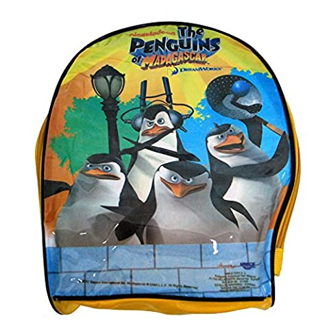 Children's TV Show Character Licensed Transparent Clear Swim Beach Travel Sports Bag Range Girls Boys & Unisex Designs (Penguins of