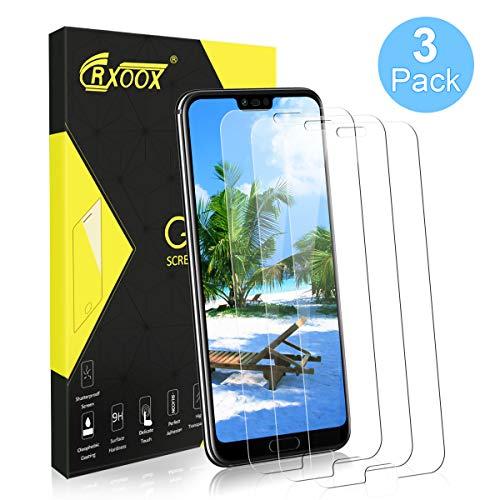 CRXOOX 3 Stück Panzerglasfolie für Huawei Honor 10 Panzerglas Schutzfolie HD Klar Anti-Kratzen, Anti-Fingerabdruck Blasenfrei Einfache Installation Bildschirmschutzfolie Folie für Honor 10