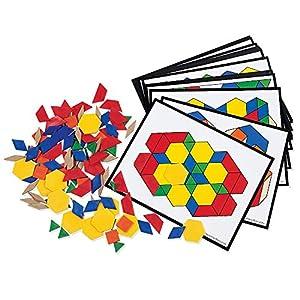 Learning Resources- Kit de Actividades con Bloques geométricos, Color (0 LER0335)