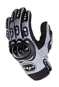 Vega MCS-01B Motorcycle Glove (Grey, Large)