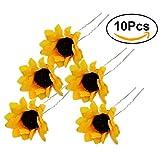 Frcolor Haarklemmen, Sonnenblume, 10 Stück