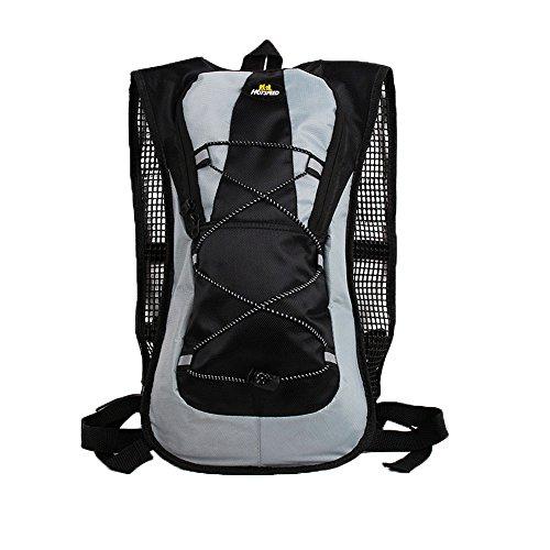 LAAT Rucksack wasserdichte Tasche Radfahren Daypack Wasser Rucksack Bike Mountain Sacks Bergsteigen Packs Reisen Säcke Schulter Handtasche (Schwarz)