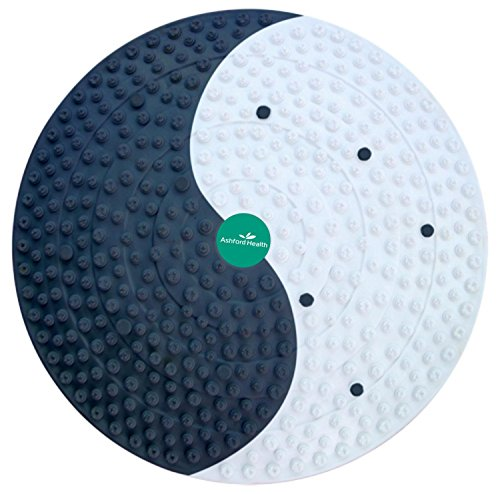 HealthPanion 1 Set aus Akupressur Fitness Fuß Matte mit Magnetic Design für Stress, Foot Pain oder Back Pain Relief - Schwarz (Gewicht-verlust-katze)