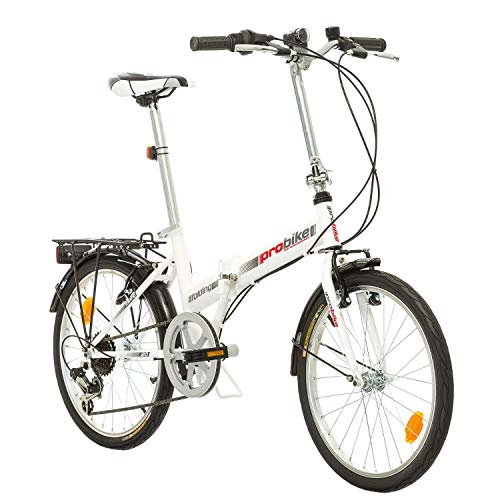 PROBIKE Multibrand Folding 20 Zoll Klapprad, Faltrad, Shimano 6 Gang, Herren-Fahrrad & Jungen-Fahrrad, geeignet ab 155 cm - 185 cm