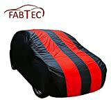 #1: Fabtec Stylish Red & Blue Stripe Car body cover for Maruti eeco