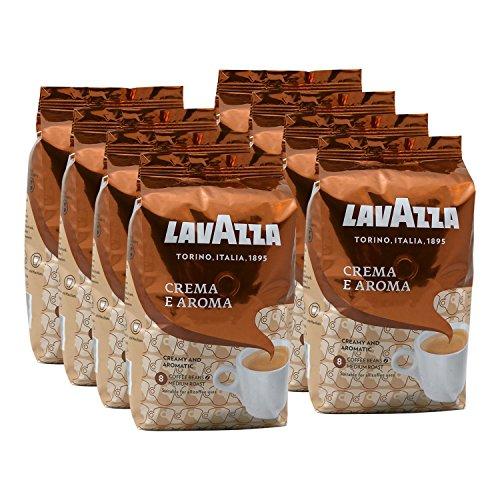 Lavazza Kaffee Crema E Aroma, ganze Bohnen, Bohnenkaffee (8 x 1kg Packung)