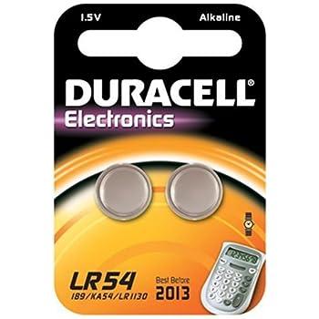 Duracell Knopfzelle Alkali Mangan Batterie (LR54/AG10/V10 GA) 2 Stück