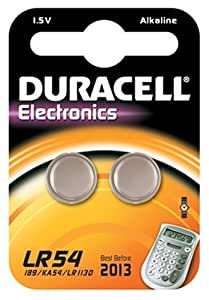 Duracell Electronics LR54 1.5 V Alkaline Batteries - Pack of 2