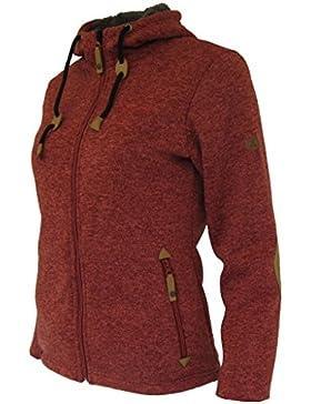 Maul Mujer Polar de forro polar chaqueta chieming, mujer, Rot meliert, 44