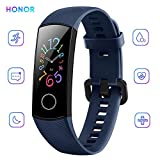 "Docooler Honor Band 5 Activity Tracker 0,95"" Schermo AMOLED a Colori 50M Waterproof Heart Rate Monitor Wristbands Bracelet per Diverse modalità Sportive (Nero)"