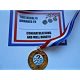 Quiz Medals (with ribbon) Choice of Gold, Silver, or Bronze with certificate