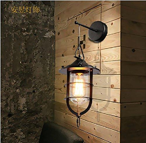 Anbirazm Modern Wandleuchten E27 Antik Wandlampe Vintage Rustikal Wandlampe für Schlafzimmer Wohnzimmer Bar Flur Badezimmer Küche Balkon Bügeleisen Retro Track Bed, 250 * 400 mm Led Wandleuchte -