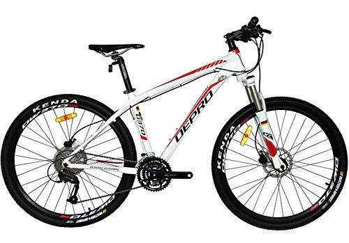 WEST BICICLETA 27 5PARA HOMBRE Y MUJER PARA BICICLETA DE MONTAñA SHIMANO M3709S MTB BICICLETA D370  WHITE-RED