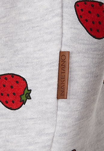 Naketano Female Sweatshirt A gift can be a curse Amazing Grey Melange