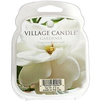Village Candle Galet fondant de cire parfumée pour brûle-parfum Senteur gardénia