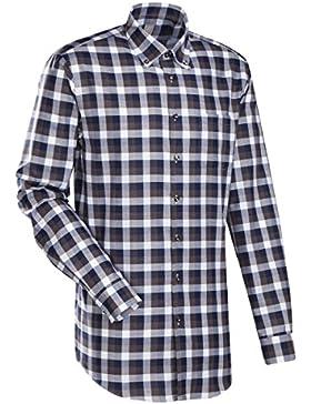 JACQUES BRITT Business Hemd Slim Fit 1/1-Arm Bügelleicht Karo City-Hemd Button-Down-Kragen Manschette weitenverstellbar