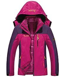 Chaqueta Softshell Hombre Mujer Chaquetas 3 en 1 Montaña de Invierno Abrigo Impermeable Chaqueta de Acampada